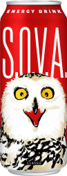 Характеристрики и размер товара S.O.V.A. Classic энергетический напиток, 0,5 л