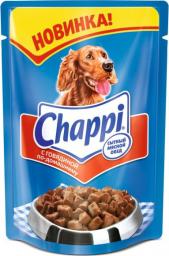Характеристрики и размер товара Корм для взрослых собак Chappi с говядиной по-домашнему, 24шт*100г