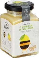 Характеристрики и размер товара Крем-мёд Медовый Дом натуральный цветочный с имбирем и лимоном, 320г