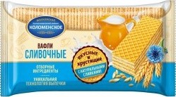 Характеристрики и размер товара Вафли Коломенское сливочные традиционные 220г