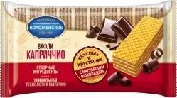 Характеристрики и размер товара Вафли Коломенское Каприччио с шоколадной начинкой 220г