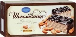 Характеристрики и размер товара Торт Коломенское Шоколадница с миндалем 270г