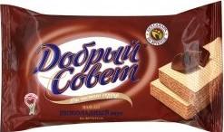 Характеристрики и размер товара Вафли Добрый Совет шоколадный вкус на фруктозе 73г