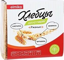 Характеристрики и размер товара Хлебцы Elmika Ржаные 110г