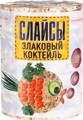Характеристрики и размер товара Слайсы Продукты Алтая Злаковый коктейль, 100г
