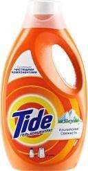 Характеристрики и размер товара Стиральный порошок Tide жидкий Альпийская свежесть 1,82л