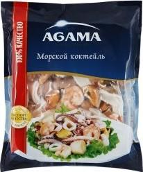 Характеристрики и размер товара Морской коктейль Agama сыро-мороженый, 300г