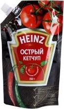 Характеристрики и размер товара Кетчуп Heinz острый с дозатором 350г