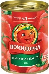 Характеристрики и размер товара Паста Помидорка томатная 140г