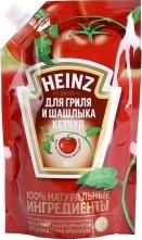 Характеристрики и размер товара Кетчуп Heinz для гриля и шашлыка (с дозатором) 350г