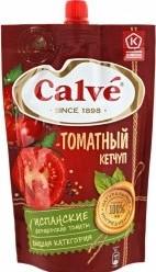 Характеристрики и размер товара Кетчуп Calve томатный 350г