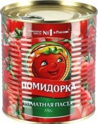Характеристрики и размер товара Паста Помидорка томатная 100% 770г