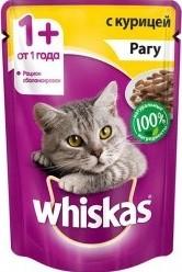 Характеристрики и размер товара Корм для кошек Whiskas рагу с курицей, 85г