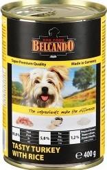 Характеристрики и размер товара Корм для собак Belcando индейка с рисом, 400г ж/б