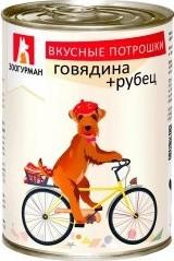 Характеристрики и размер товара Корм для собак Зоогурман вкусные потрошки говядина+рубец, 350г ж/б