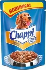 Характеристрики и размер товара Корм для взрослых собак Chappi мясное изобилие, 100г