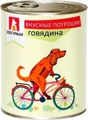 Характеристрики и размер товара Корм для собак Зоогурман вкусные потрошки говядина, 750г