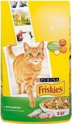 Характеристрики и размер товара Сухой корм для кошек Friskies с кроликом и полезными овощами 2кг