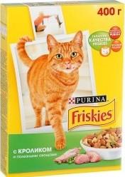 Характеристрики и размер товара Сухой корм для кошек Friskies с кроликом и полезными овощами, 400г