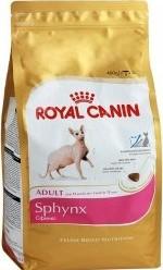 Характеристрики и размер товара Сухой корм для кошек Royal Canin Sphynx породы Сфинкс старше 12 месяцев 400г