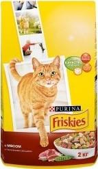 Характеристрики и размер товара Сухой корм для взрослых кошек Friskies с мясом и овощами 2кг