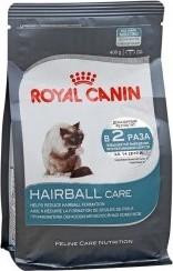 Характеристрики и размер товара Сухой корм для кошек Royal Canin HairBall для выведения волосяных комочков 400г