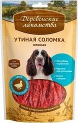 Характеристрики и размер товара Лакомство для собак Деревенские лакомства утиная соломка нежная 90г