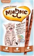 Характеристрики и размер товара Лакомые палочки для котят Мнямс с индейкой 3*3г