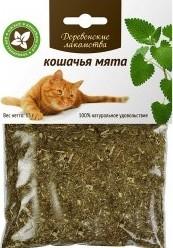 Характеристрики и размер товара Мята для кошек Деревенские лакомства 15г