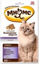 Характеристрики и размер товара Хрустящие подушечки для кошек Мнямс