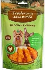 Характеристрики и размер товара Лакомство для собак Деревенские лакомства для мини-пород куриные палочки 55г