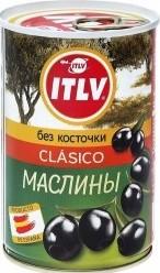 Характеристрики и размер товара Маслины ITLV Clasico без косточки 280г
