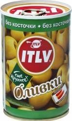 Характеристрики и размер товара Оливки ITLV без косточки 300г