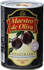 Характеристрики и размер товара Маслины Maestro de Oliva Супергигант без косточки 425г