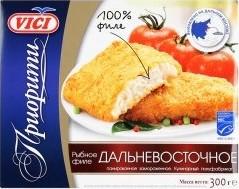 Характеристрики и размер товара Рыбное филе Vici