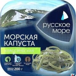 Характеристрики и размер товара Морская капуста Русское море Классическая 200г