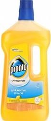 Характеристрики и размер товара Средство Pronto Очищение 5в1 для мытья полов с ароматом лимона, 750мл