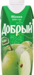 Характеристрики и размер товара Сок яблочный осветленный Добрый т/п 0.33л