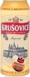 Характеристрики и размер товара Пиво 0.5л 5% светлое Krusovice Imperial ж/б