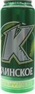 Характеристрики и размер товара Пиво 0.5л 4.7% светлое Клинское ж/б