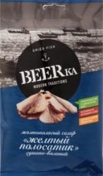 Характеристрики и размер товара Рыба сушено-вяленая Beerka желтый полосатик, 40 г