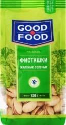 Характеристрики и размер товара Фисташки жареные соленые Good Food м/у 130г