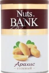 Характеристрики и размер товара Арахис Nuts Bank Premium product соленый обжаренный, 200 г