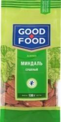 Характеристрики и размер товара Миндаль Good Food сушеный, 130 г