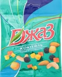 Характеристрики и размер товара Смесь орехов и сухофруктов Джаз, 50 г