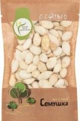 Характеристрики и размер товара Семена тыквенные Семушка жареные соленые, 80 г