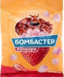 Характеристрики и размер товара Попкорн Бомбастер Клубника, 50 г