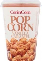 Характеристрики и размер товара Попкорн CorinCorn Vanilla Caramel карамель сладкая, 100 г
