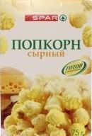 Характеристрики и размер товара Попкорн сырный SPAR к/у 75г