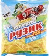 Характеристрики и размер товара Палочки кукурузные со вкусом сгущенного молока Рузик м/у 90г